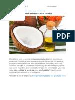 Cómo Utilizar El Aceite de Coco en El Cabello - 7 Pasos