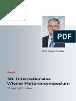 Rede Rupert Stadler beim Wiener Motorensymposium 2017