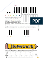 The Keyboard and Treble Clef Theory