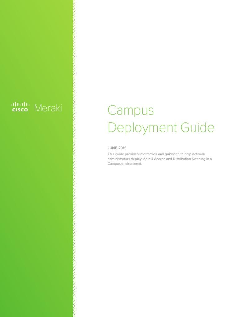 Meraki Campus Deployment Guide   Network Switch   Computer