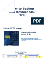 How to Backup and Restore SIU