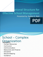 Organizational Structure for Effective School Management-FINAL