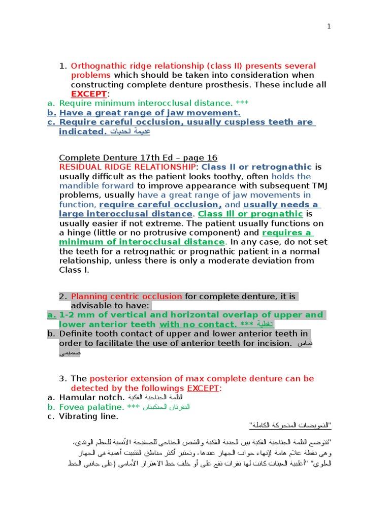 contact interocclusal