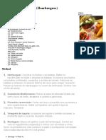 Hamburguer Vegetariano - Francesco Cherubin