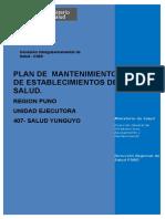 Plan de Mantenimiento Salud Yunguyo