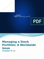 Managing a Stock Portfolio a Worldwide Issue Chapter 11