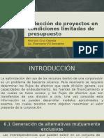 Evaluación - Selección de Proyectos de inversión