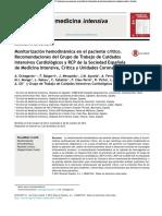 2014. Monitorizacioìn hemodinaìmica en el paciente criìtico