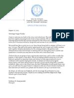 parent participation letter