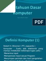 Pertemuan 2 Dasar-dasar Komputer