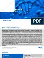 Q1 2017 Amgen Earnings Conference Call Presentation