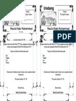 Undangan Maulid Nabi Muhammad SAW