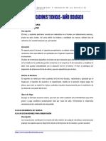Especificaciones Tecnica Baños Ecologicos