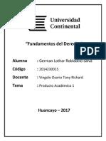 PA1 Fundamentos Del Derecho