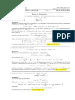 Corrección Primer Parcial de Cálculo III (Ecuaciones Diferenciales), 24 de abril de 2017 (mañana)