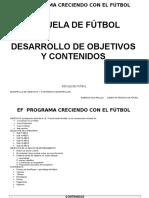 Contenidos Escuela de Fútbol2017