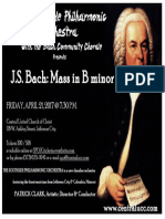 SPO Concert #2 Poster BACH Mass in B Minor