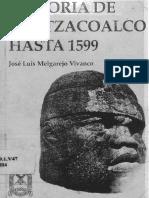 Historia de Coatzacoalcos hasta 1599