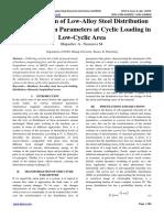 a Phenomenon of Low-Alloy Steel Distribution Transformation