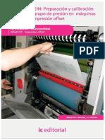 Preparación y calibración del grupo de presión en máquinas de impresión offset