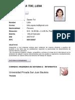 Lidia Zapata Tixi Cv
