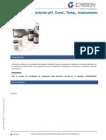 Certificado Calibración PH