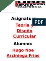 Hugo Noe Arciniega Frias - UBC.teoria y Diseño Curricular