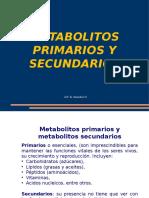 Metabolitos Primarios y Secundarios - Clase 3
