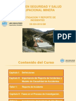 Curso en Seguridad y Salud Ocupacional Minera _ Inv y Reporte de Incidentes