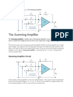 Summing Amplifier