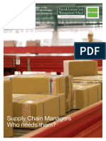Supply Chain Managers - Who Needs Them Text Book Final