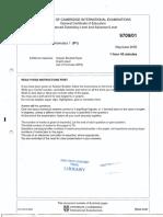 Uni of camb 2005 P1