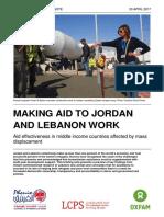 Making Aid To Jordan And Lebanon Work