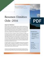 Resumen Climatico Chile 2016