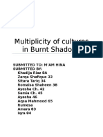 Multiplicity of cultures in Burnt Shadows.docx