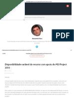 Disponibilidade Variável Do Recurso Com Apoio Do MS Project 2013 _ Gerente de Projeto