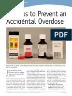 Diptico. FDA Recomendaciones Para Evitar Sobredosis en Niños