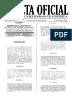 Gaceta Oficial Nro 6.222 Extraordinario 01-04-2016