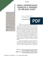 Ainda interpretamos crianças a maneira de Melanie Klein.pdf