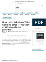 "How to Fix Windows 7 Not Genuine Error -""This Copy of Windows is Not Genuine"""