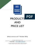 PR Price Booklet 161107