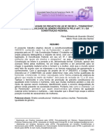 Artigo a Conflitualidade Conjugal e o Paradgma Da Violencia Contra a Mulher Barbara Soares