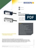 Bogen Technical Data Sheet IKS9 Rev 2 1