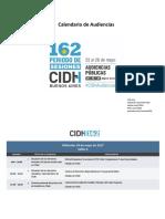 CIDH Calendario 162 Audiencias Es