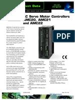 JVL AC Servo Motor Controllers AMC20, AMC21 and AMC22