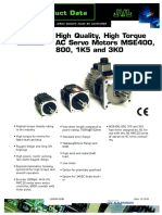 JVL High Quality, High Torque AC Servo Motors MSE400, 800, 1K5 and 3K0