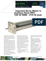 JVL Intergrated Servo Motor in Stainless Steel IP67 100 W RMS - 370 W Peak