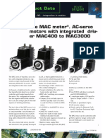 JVL The MAC Motor AC-Servo Motors with Integrated Driver MAC400 to MAC3000