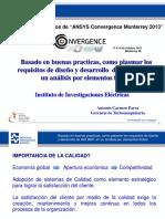"""Gestion de Calidad en FEA - Conferencia de Usuarios de """"ANSYS Convergence Monterrey 2013"""""""