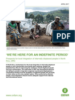 'We're Here For an Indefinite Period' Prospects for local integration of internally displaced people in North Kivu, DRC